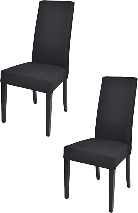 Tommychairs Set 2 sedie Chiara Eleganti e Moderne per Cucina, ristoranti, Bar e Sala da Pranzo, con Struttura in Legno di faggio, Seduta e Schienale
