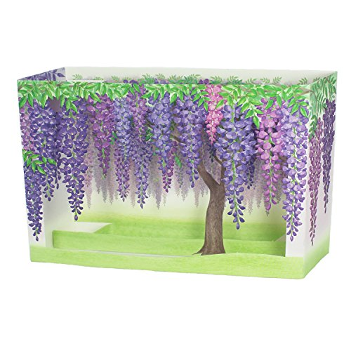 Laser Cut Purple Wisteria Blooms Pop Up Decorative Greeting Card Decorative Cards