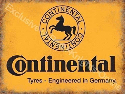 Continental neumáticos Amarillo firmar, negro caballo logotipo ...