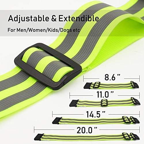 Bandas reflectantes para correr, brazaletes, cinturones para ...