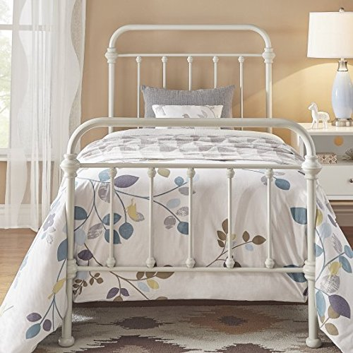 Birch Metal Bed - Metal Bed, Twin, Silver Birch, With Metal Slats, Bundle with Ebook for Home Furniture
