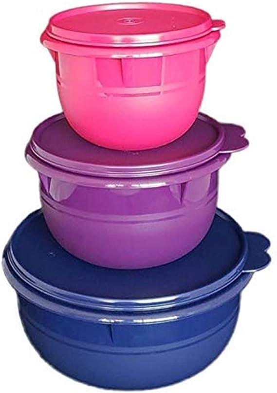 Tupperware/® Juego de 3 cuencos de 550 ml para postres y frigor/íficos.