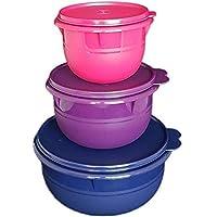 Tupperware Classic 3 Piece Mixing Bowl Set Vineyard, Dewberry & Indigo