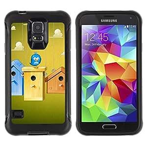 iKiki Tech / Estuche rígido - Birdhouse Blue Bird Sky Clouds Funny Home - Samsung Galaxy S5 SM-G900