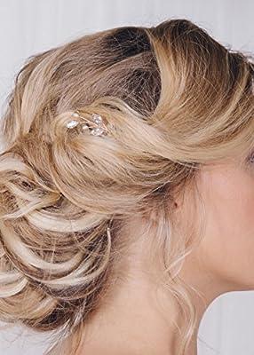 fxmimior 3 PCS Bridal Women Hair Pins Vintage Wedding Party Crystal Hair Accessories