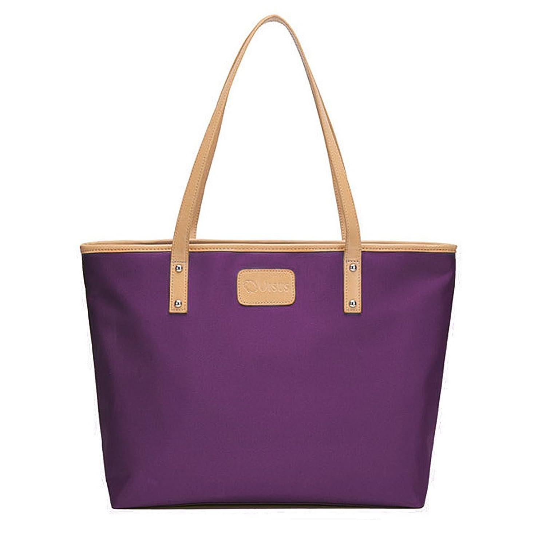 Aibearty Women Stylish Shoulder Bag Top-handle Handbag Purse Bag Tote Bag(Purple)