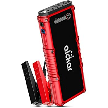 Aickar 800A Peak 19800mAh Car Jump Starter (All Gas & 4.5L Diesel Engine) Portable Car Battery Jump Starter, Power Bank, Built-in LED Flashlight with Car Jumper Cables Heavy Duty