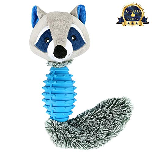 Fancar Dog Chew Toys Interactive Durable Squeaky Plush Dog Toy for Tug of War with Your Small Medium and Large Dogs, Puppy Teething Toys - Effective Tooth Cleaning, Fox-Blue