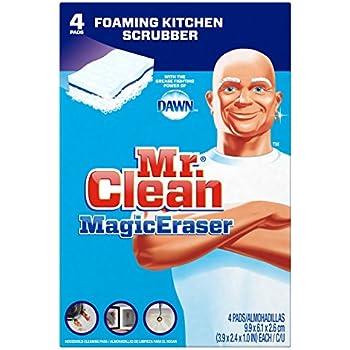 Mr. Clean Magic Eraser Kitchen and Dish Scrubber, 4 Count