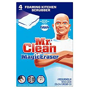 Mr. Clean Magic Eraser Kitchen Scrubber is a textured pad with micro-scrubbers that tackles your kitchens greasiest, grimiest mess with little effort. Magic Eraser with the grease fighting power of Dawn® makes cleaning tough messes a cinch.