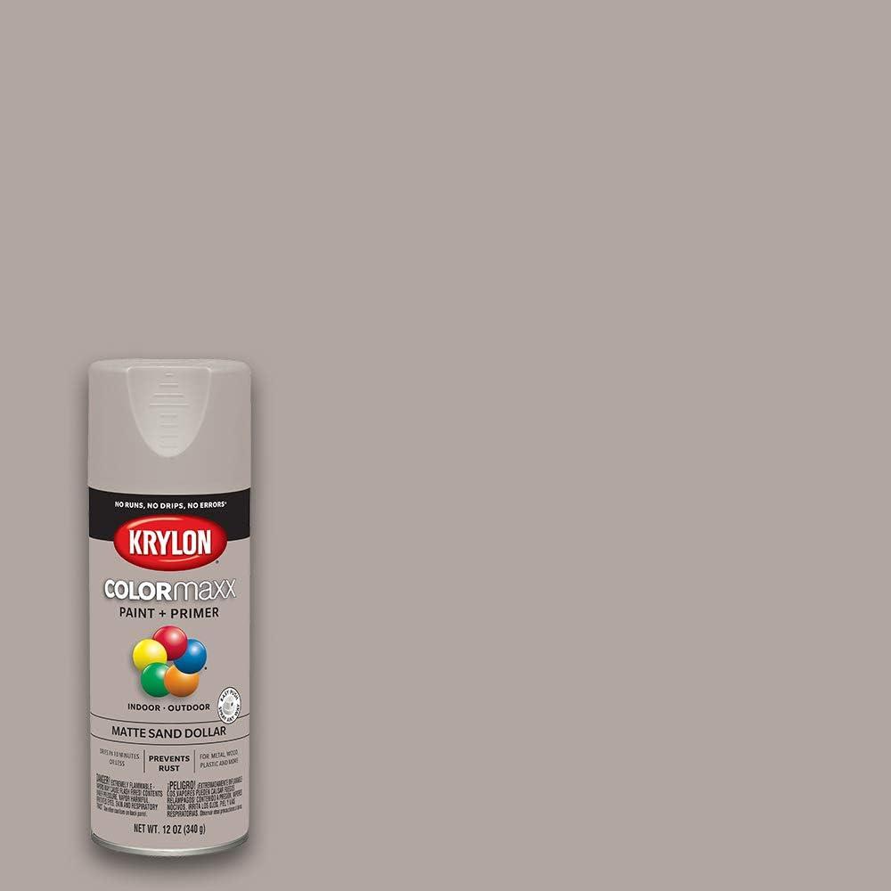 Krylon K05600007 Colormaxx Spray-Paints, Aerosol, Sand Dollar