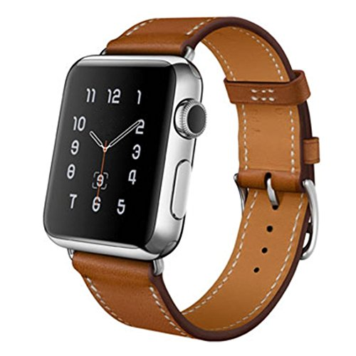 For Apple Watch Band, HP95(TM) Replacement Genuine Leather Watchband Band Strap for Apple Watch 38mm/ Apple Watch 42mm all Models