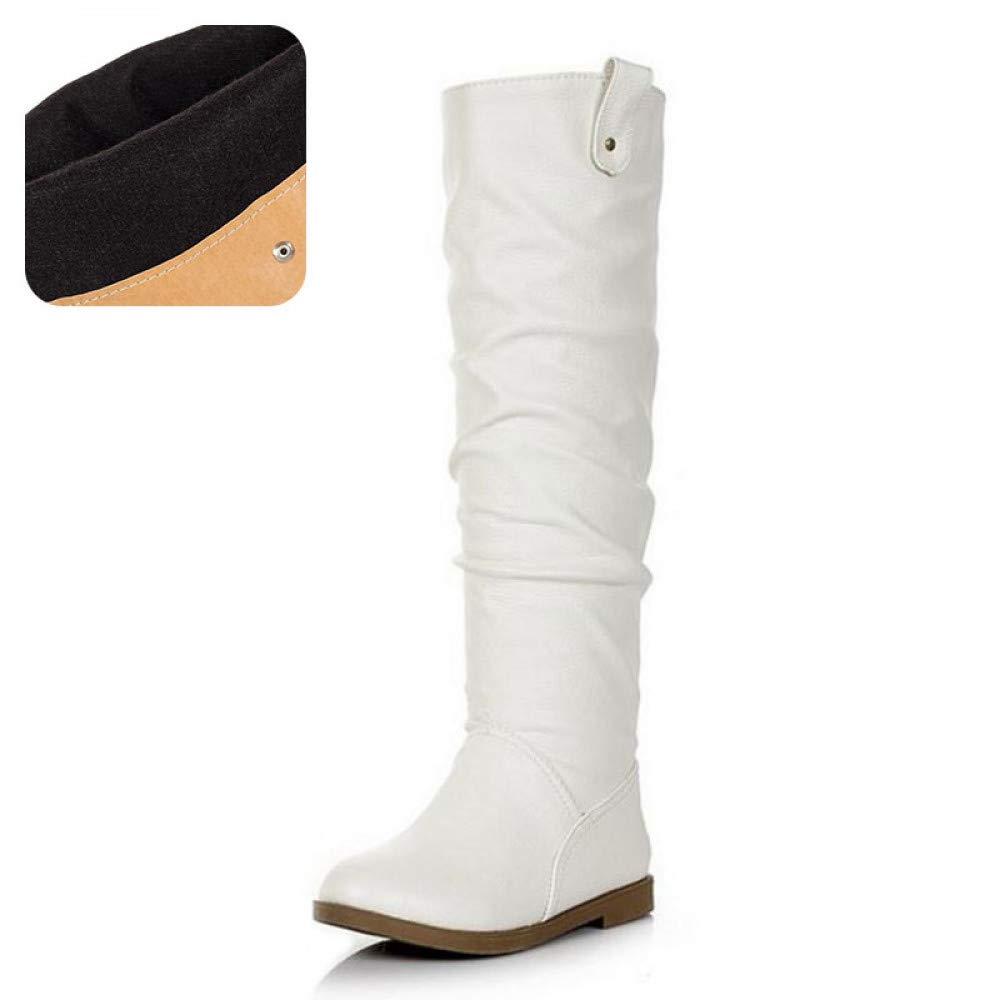 PINGXIANNV Frauen Schuhe Wohnungen Stiefel Einlegesohle Frau Schuhe Schuhe Mode Lange Stiefel Winter Casual Schuhe Schuhe 0d53e9