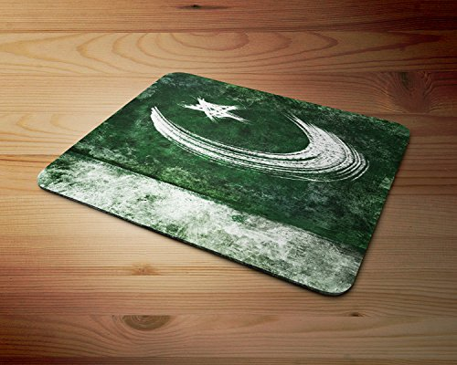 Pakistan Pakistani Painted Flag Rubber Mouse Mat PC Mouse - Pakistani Models Images