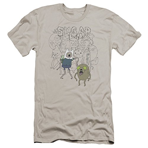 Sugar Slim Homme Adventure Silver Zombies Premium T Time Pour shirt Fit rxwUqYxzt