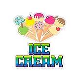 Ice Cream Concession Restaurant Food Truck Die-Cut Vinyl Sticker 10 inches