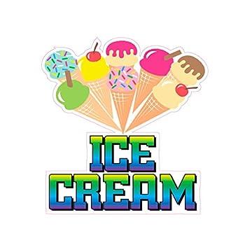 Ice Cream Concession Restaurant Food Truck Die-Cut Vinyl Sticker 14 inches