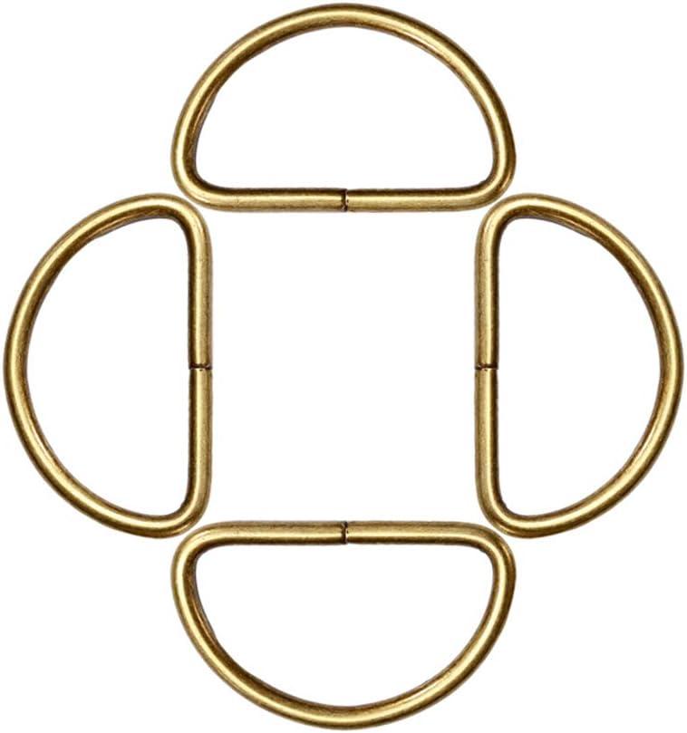 16 32 SUPVOX Anillo D de Metal para Trabajo Pesado Semicircular para Bolsas Correa de Bricolaje Equipaje Ropa Cintur/ón Collares de Perro 100 Unidades 2.8mm Bronce