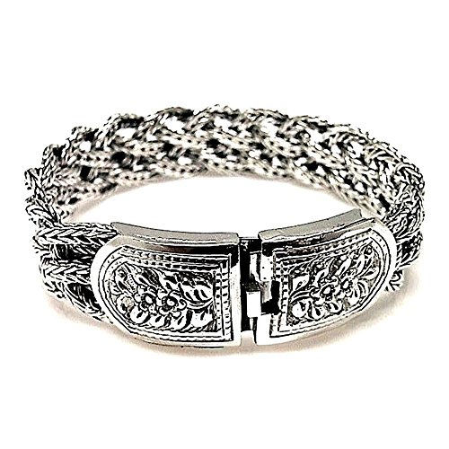 Bracelet 925m bracelet en argent tressé Loi rouillée [AB0953]