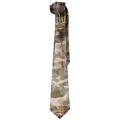 Jxrodekz Corbata de camuflaje de moda para hombre Corbata larga ...