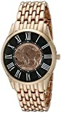 August Steiner Men's CN009RG Rose Gold Quartz Watch with Buffalo Nickel Dial and Rose Gold Bracelet