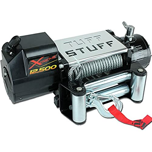 Buy Tuff Stuff Xtreme 12,500lb Winch- Waterproof, Wireless, Snatchblock, Gloves & Cover Included