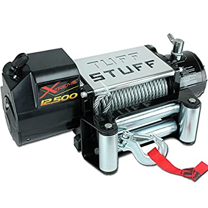 amazon com: tuff stuff overland ts-12500-xt 12,500 lb winch w/ 88 ft wire  waterproof xtreme: automotive