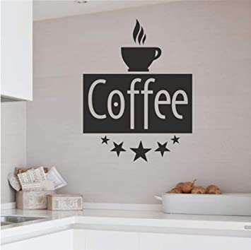 Cafe Letras De La Vendimia Calcomanias De Pared Decorativos A