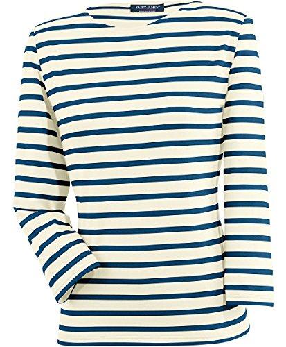 Saint James - Camiseta a rayas, estilo Bretaña, Galathée ECRU/MARINE