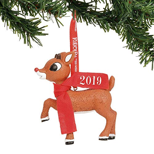 (Department 56 Rudolph The Red-Nosed Reindeer 2019 Dated Hanging Ornament 3.25