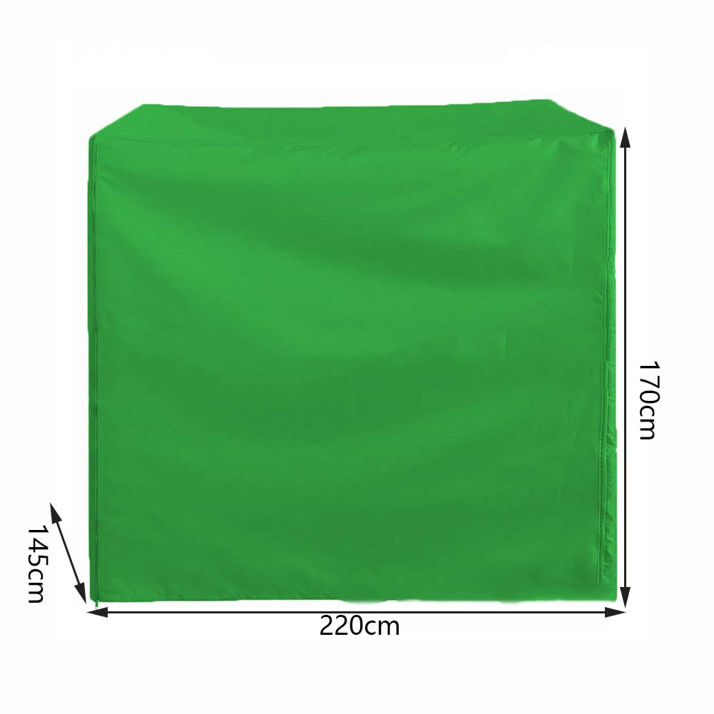 RUANMU Dust Cover Protective Cover Furniture Cover, Polyester Square Swing Cover, Waterproof/Sunscreen,Beige,220 * 145 * 170Cm