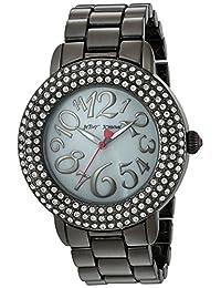 Betsey Johnson Women's BJ00306-07 Gun Metal Case and Bracelet Watch