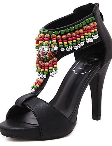 ShangYi Women's Shoes Stiletto Heel Heels / Slingback / Open Toe Sandals Dress Black Black yTp6l