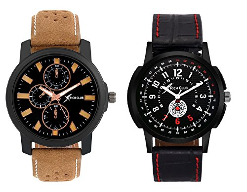 Rich Club RC 1418+1517 Combo of Casual Two Watches for Men and Boys