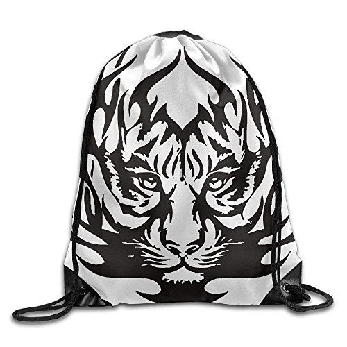 Gym Face Portable fengxutongxue Sack Backpack Drawstring Unisex Bags Tigre Cool vCxq7