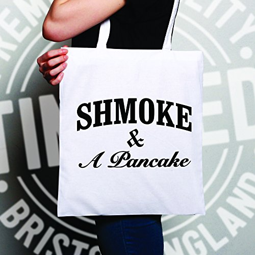 One White Pancake Shmoke Parody Slogan White amp; A Tote Size Movie Bag qzAx8