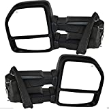 Black Friday VIOJI 2x Power Heated Manual Telescoping And Folding Side Turn Signal Light Black Housing Spotter Glasses Towing Mirrors For 15-18 Ford F-150 8 Jacks15-18 Ford F-150