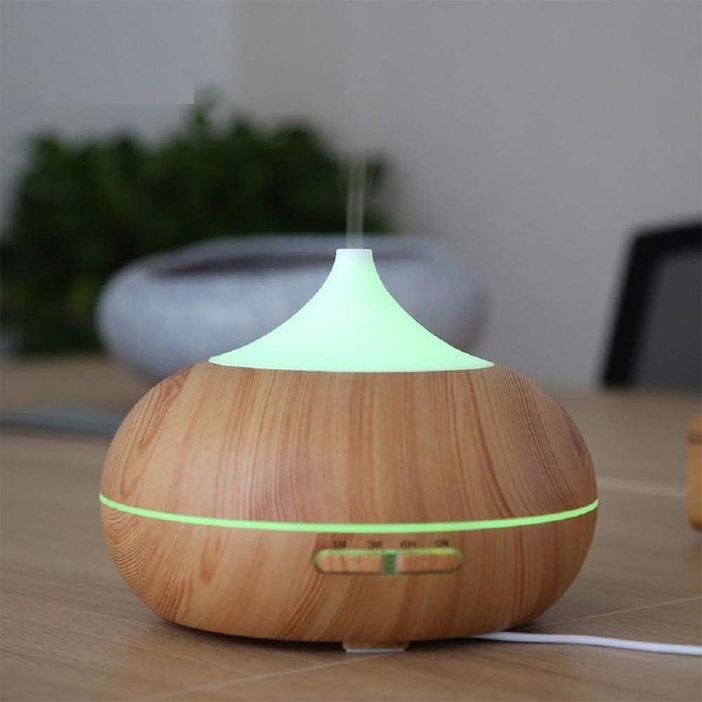 Máquina difusor humidificador purificador aromaterapia en forma de cebolla madera LED: Amazon.es: Salud y cuidado ...