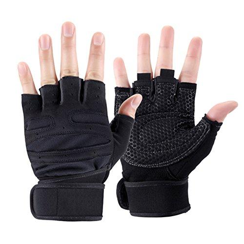 QIDI-gants Sport Saison D'été À L'extérieur Escalade Protection Résistant À L'usure Gants De Fitness (Couleur : Noir, taille : M)