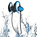 Waterproof Sports Bluetooth Wireless Headset Headphones Earphone for iPhone Android Phones and other Cellphones Super Fashion New Style Shark BH802 (Blue)
