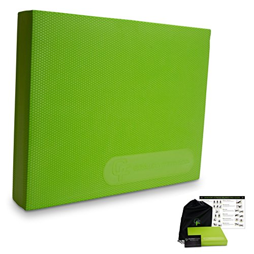 NO.1 Physical Therapist Recommended Balance Pad, Gravity Fitness Premium Quality Non-slip Balance Pad, Includes Free Storage Bag and Exercise Program, Large, Green