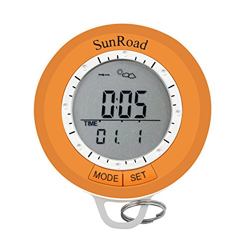 SUNROAD SR108S Outdoor Mini Hiking Computer Waterproof Men Causal Watch-Pedometer Altimeter Thermometer Compass Weather Forecast Multifunction (Mini Pedometer)