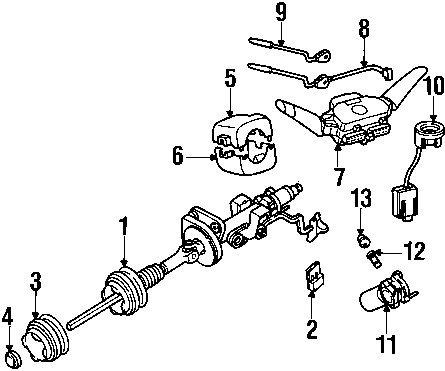 (Mercedes-Benz 163 462 00 30, Ignition Lock Housing )