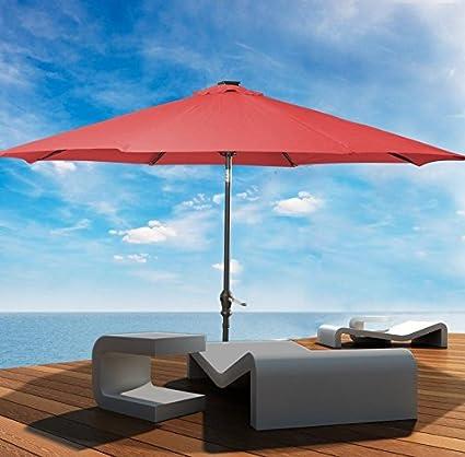 Patio Furniture Patio Umbrella This Is Premium 10u0027Patio Solar Umbrella LED  Patio