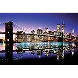 Brooklyn Bridge Twilght Photography Poster 36x24