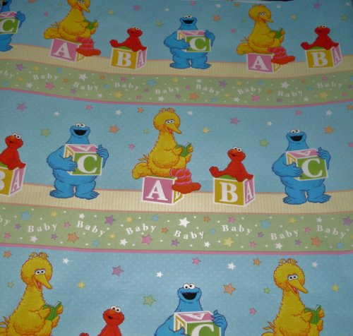 Roll Elmo (Sesame Street & Elmo BABY Gift Wrap Sheet Roll Wrapping Paper & Bows - A, B, C for Baby)