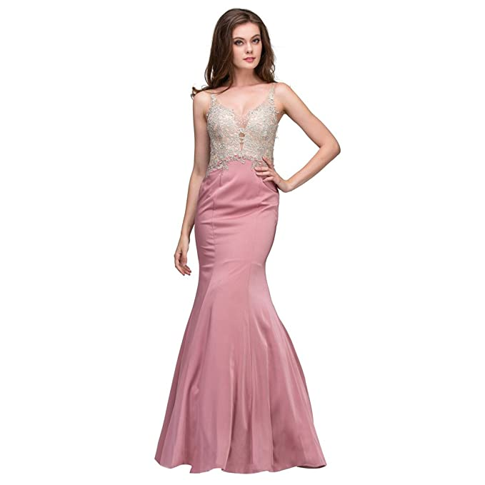 Athena Couture Satin And Lace Trumpet Style Prom Dressevening Gown