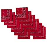 Image of Elephant Brand Bandanas 100% Cotton Since 1898 - 12 Pack (Red)