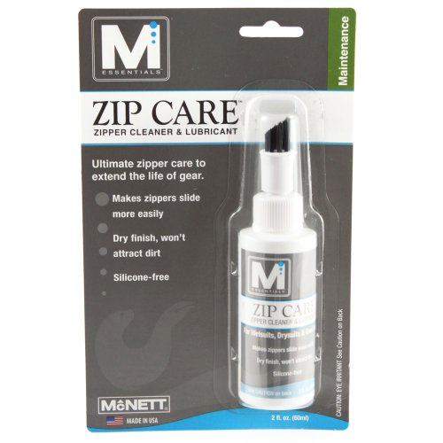 McNett Zip Zipper Care with Brush Applicator, 2 oz. Scuba Dive Diver Diving W...