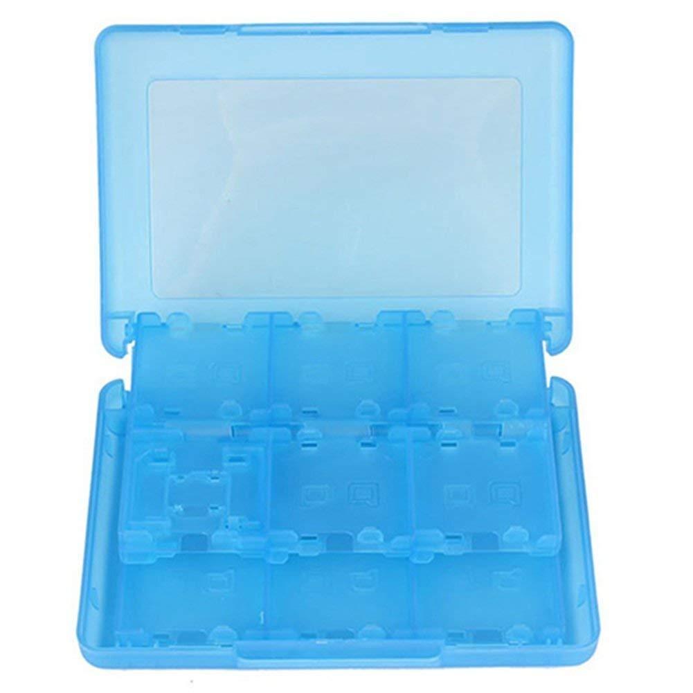 28 en 1 Cartuchera de Cartucho de Juego de Cartas para Juegos de Nintendo 3DS Vedio (Azul)